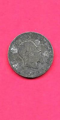 ITALY ITALIAN KM5a.1 1863-BN LARGE ANTIQUE VINTAGE OLD SILVER LIRA COIN