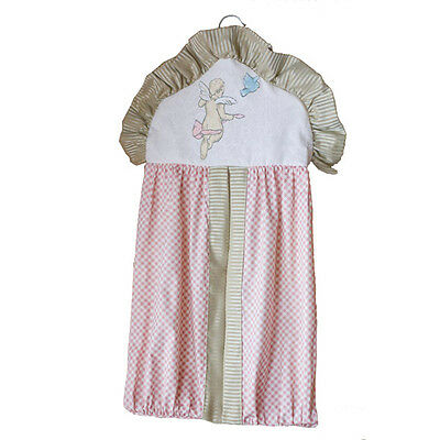 Jessica McClintock CHERISH Cherub Diaper Stacker Rose Angel Baby Nursery NEW