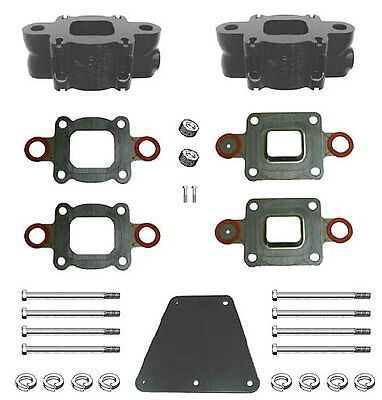 "Riser Spacer Kit 3"" Dry Joint Exhaust V6 V8 MerCruiser, Replaces 864929A3 - Barr"