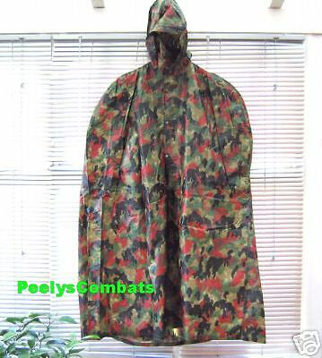 Genuine Military Surplus ALPENFLAGE WATERPROOF and Windproof CAPE, Poncho