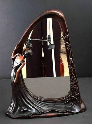 Bronze Mirror Art Deco Nouveau Sculpture