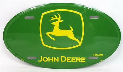 Green John Deere Oval License Plate Car Truck Auto Tag Tractor Farm Garage Barn