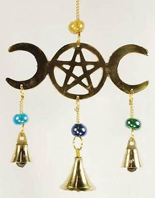 Triple Moon Goddess & Pentagram Wind Chime!