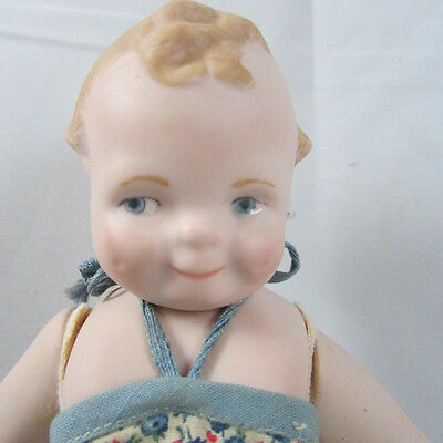 Scootles Artist Doll VTG Reproduction 6.5 Inches All Bisque McNees Mold 1001