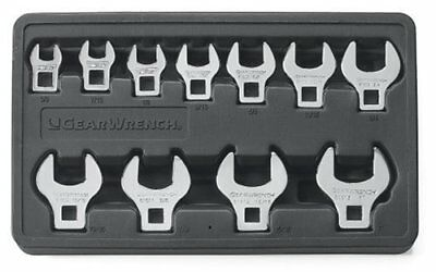 GearWrench 81908 11 Piece SAE Crowfoot Wrench Set