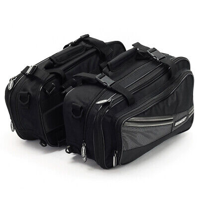Biketek Motorcycle Expandable Diablo Sports Touring Panniers Black 10-21 Litre