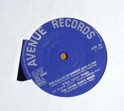 """'Ballad of Bonnie and Clyde' UNKNOWN ARTIST 7"""" vinyl single EP Avenue AVE 48"""