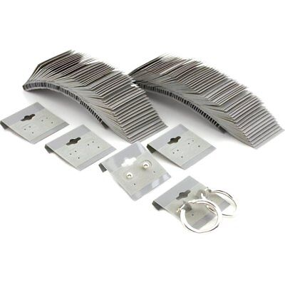 100 Gray Hanging Earring Cards 1.5 inch Jewelry Display
