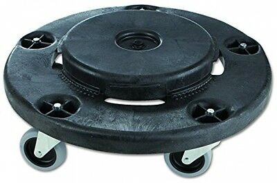 Rubbermaid Commercial 264000BK Brute Round Twist On/Off Dolly, 250lb Capacity,