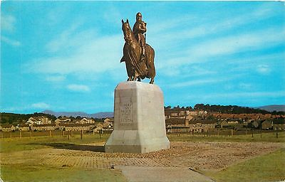 p1092 Robert the Bruce statue, Bannockburn, Scotland postcard