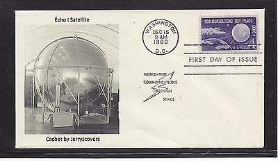 Space Echo I Satellite Fdc 1960 Washington, Dc Only One Made