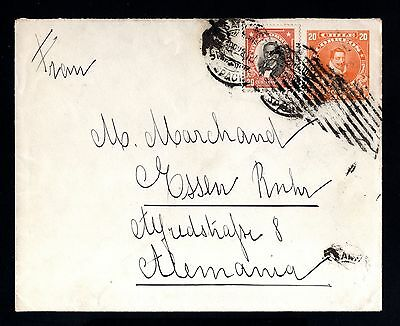 15826-CHILE-OLD COVER SANTIAGO to GERMANY.1923.Chili.