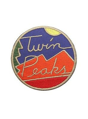 Twin Peaks Logo Iron On Patch Brand New Sun  Mountain Tree David Lynch TV show