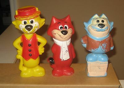 60s Hanna Barbera Top Cat Benny The Ball & Spook Knock Down Target Figures Rare