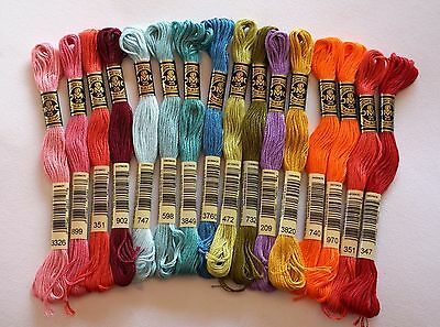 Dmc Embroidery Threads - Skeins Stranded Cotton Floss - Choose Your Colours