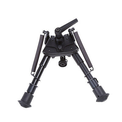 "Tactical Hunting Rifle Swivel Mount Bipod Holder Black 6""-9"" 9""-15"" 14""-22"" DH"
