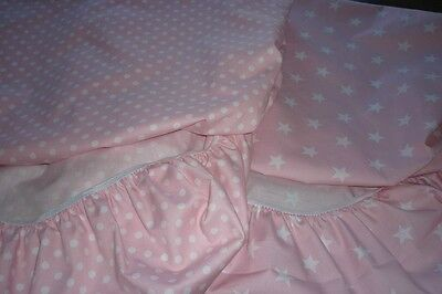 Cradle Fitted Sheet x 2 - 100% lovely cotton - suit Boori/ Bloom >Express Post