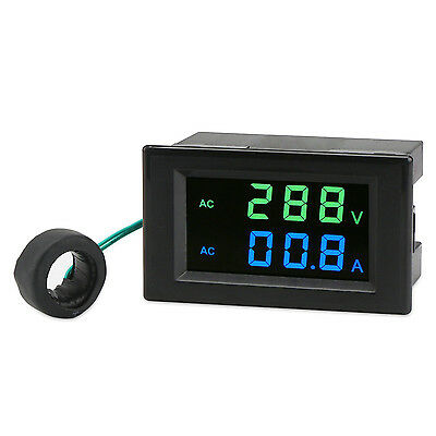 Digital Meter AC80~300V/100A Led Display Voltmeter Ammeter AC 110V 220V Tester