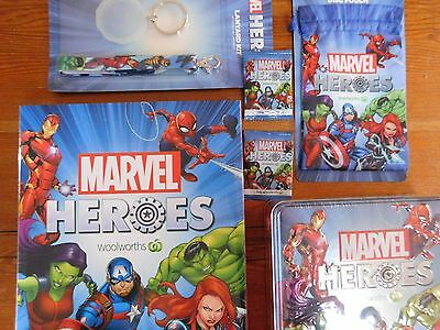 MARVEL Heroes  Woolworths Album  + Lanyard Disc Pouch & Tin Brand New + 2 discs