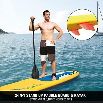 Bestway 3M 2 In 1 Inflatable Stand Up Kayak Paddle Board 10' Rip Tide SUP