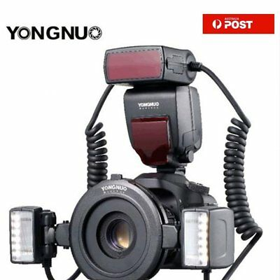 Yongnuo YN24EX TTL Macro Master Speedlite + Flash Head Adapter Ring For Canon AU