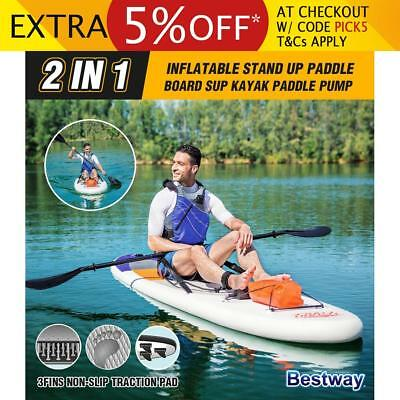 Bestway 2 In 1 Inflatable Stand Up Paddle Board Surfboard SUP Kayak Paddle Pump