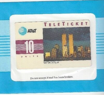 TK AT&T 10u New York City Skyline (World Trade Center Twin To) (Group 3) English