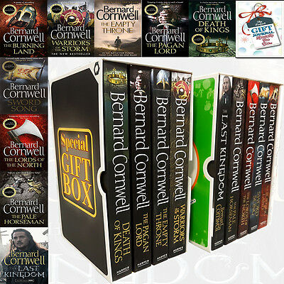Bernard Cornwell Last Kingdom Series 9 Books Collection With Journal Gift Wrappe
