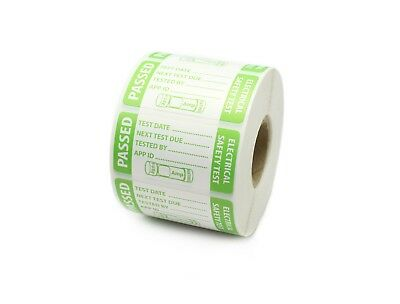 PAT Test - Passed  Labels - Fuse Rating - Durable Tear Proof Labels
