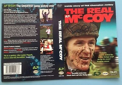 Tony AP McCoy SIGNED Autograph Horse Racing DVD Cover The Real. 100% Genuine