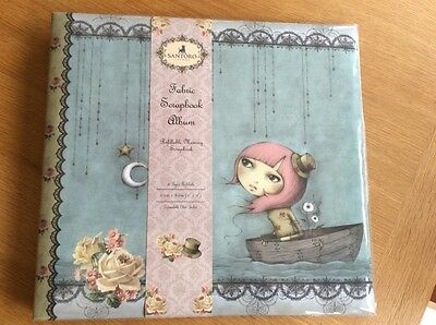 "Santoro Mirabelle 'Adrift' 12"" x 12"" Refillable Fabric Memory Scrapbook Album"