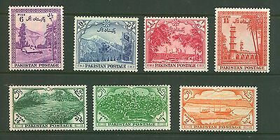 Pakistan 1954 7th Anniversary of Independence Complete set SG 045/051 LMM  Mint
