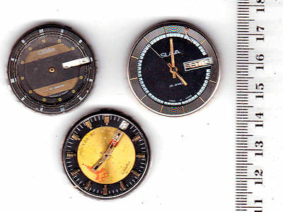 THREE WATCHES SLAVA Vintage Movements Steampunk Art /for parts