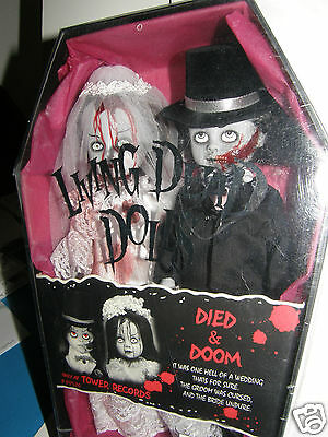 Living Dead Dolls   Died & Doom     2000 mezco factory-sealed in coffin box