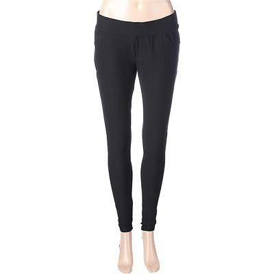 Mothers en Vogue 8774 Womens Jenna Black Stretch Pull On Skinny Pants S BHFO