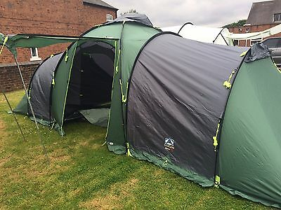 Monza 600 Sunncamp Large 2 Pod Dome Tunnel 6 Berth Person Family Tent
