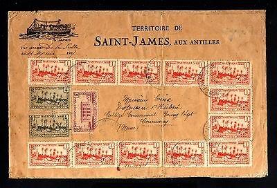15917-MARTINIQUE-By STEAMER COVER SAINT-JAMES to FRANCE.1937.WWII.French.VAPOR