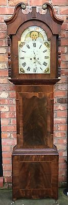 8 Day Mahogany Grand Father Clock By The Maker John Leese Of Middleton • £695.00