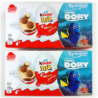 ~ 6 x KINDER Joy chocolate - FINDING DORY - Surprise Toys * for BOYs & GIRLs