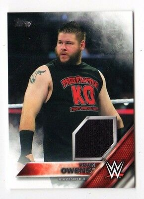 Kevin Owens 2016 Topps Wwe Then Now Forever Shirt Relics # 159 / 299