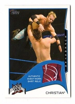 Christian 2014 Topps Wwe Swatch Relics (Event Worn Shirt Relic)