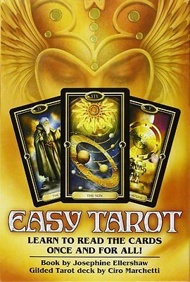 Easy Tarot - Learn to Read All the Cards  - 78 Card Deck, Guide Book & Layout