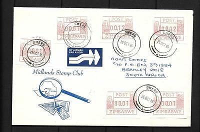Zimbabwe, 1985  Cover To Sa, With Frama Labels X 6, Gweru Cancel