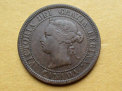 Canada 1884 Large Cent Scarce Obverse # 1 Variety