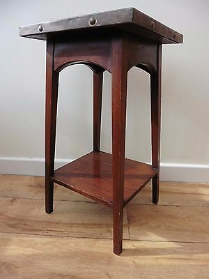 Art Nouveau /Arts & crafts jardinere finished in mahogany & copper repouse work