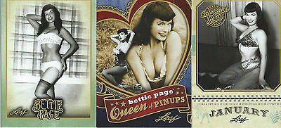 2014 Bettie Page Leaf Base Set & Two Insert Card Sets (100 cards)