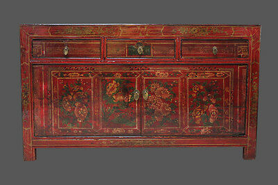 China cabinet solid wood chinese cupboard restored in top quality asia furniture