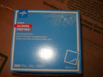 Medline MDS090735 Sterile Alcohol Prep Pads Large Latex Free 2 Ply 180 Pads NEW
