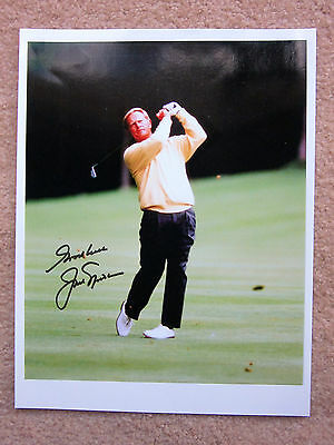 JACK NICKLAUS SIGNED AUTOGRAPHED GOLDEN BEAR 10'' x 8'' Photo