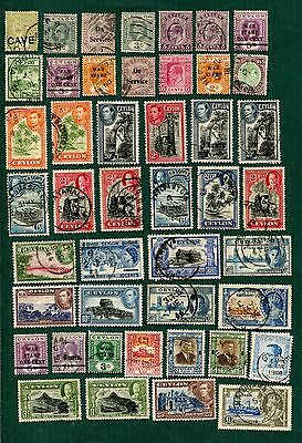Ceylon Collection - 70 Stamps Plus w/ High Values